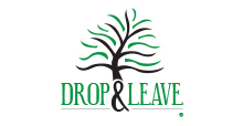 Drop and Leave logo showcasing web design and graphic design