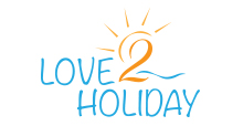 Love2Holiday logo showcasing website and logo design in Gippsland